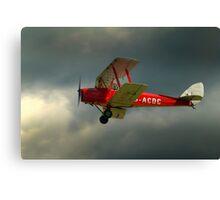 DH82a - DE HAVILLAND TIGER MOTH / G-ACDC (DELTA CHARLIE)  Canvas Print