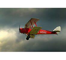 DH82a - DE HAVILLAND TIGER MOTH / G-ACDC (DELTA CHARLIE)  Photographic Print