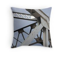Train Trestle Bridge Abstract Throw Pillow