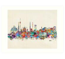 Delhi india skyline Art Print
