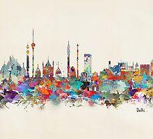 Delhi india skyline by bri-b