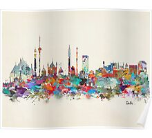 Delhi india skyline Poster