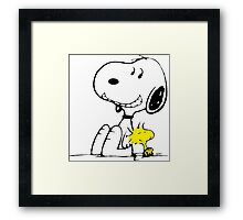Snoopy and Woodstock Framed Print