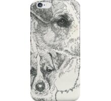 Jack Russell, smooth coat, Father & Son iPhone Case/Skin