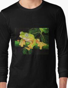 Musky Flying Frog Long Sleeve T-Shirt