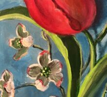 Tulip and Dogwoods Sticker