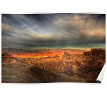 Sunrise at Zabrinski Point Poster