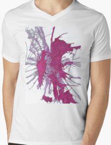 Red Swirl  Mens V-Neck T-Shirt