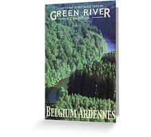 Explore - Canoeing the Semois Greeting Card