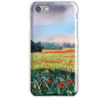 Poppies on Forty Acres Farm near Easingwold iPhone Case/Skin