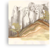 Ladies on the Rocks - do not take these women for granite Canvas Print