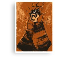 Portrait Of A Magician In Orange Canvas Print