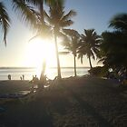 Rarotonga Beach Sunset by Covenant