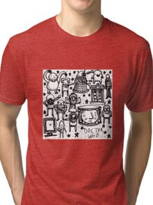 Doctor Who doodle Tri-blend T-Shirt