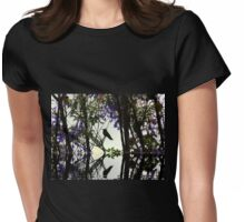 Hummingbird Silhouette Reflection Womens Fitted T-Shirt