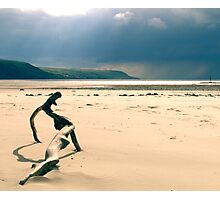 Wooden Lizard - Barmouth North Wales Photographic Print