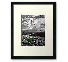 John Q. Public's Cliffhanger Framed Print