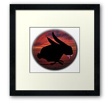 Graffiti Bunny Art Framed Print