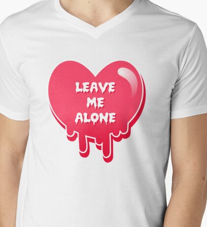 pastel melty heart leave me alone Mens V-Neck T-Shirt