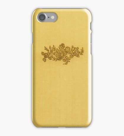 Vintage book cover with flower bouquet iPhone Case/Skin