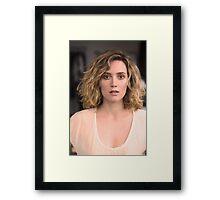 The Beautiful Evelyne Brochu Framed Print