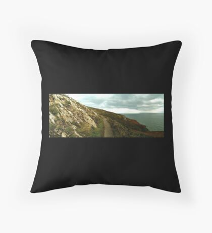 Taking the path to a new adventure Throw Pillow