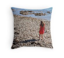 The Flood Of His Mercy. Throw Pillow