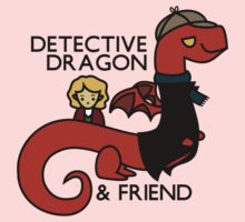detective dragon & friend - sherlock hobbit parody One Piece - Long Sleeve