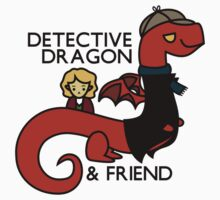 detective dragon & friend - sherlock hobbit parody Kids Tee