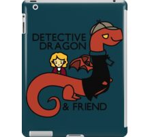 detective dragon & friend - sherlock hobbit parody iPad Case/Skin