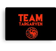 Game of Thrones - Team Targaryen Canvas Print