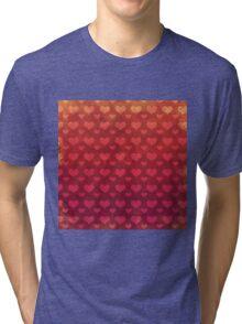 Love Red Pattern Tri-blend T-Shirt