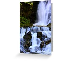 Cascades at Fundy Greeting Card