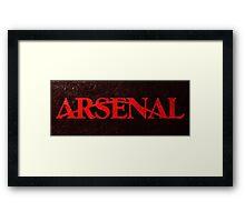Arrows Arsenal Framed Print
