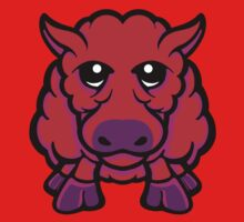 Year Of The Sheep Red and Purple Kids Clothes
