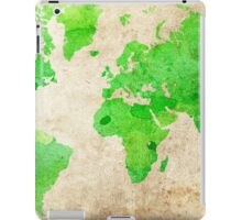 Green Map of the World - World Map for your walls iPad Case/Skin
