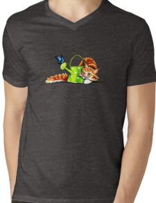 Pretty Stealthy | Maine Coon Orange Tabby Mens V-Neck T-Shirt