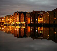 Trondheim at Night by Kurt Kamka