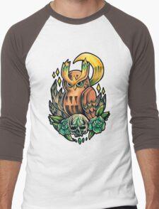 Noctowl  Men's Baseball ¾ T-Shirt