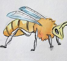 Watercolour Bee by CornyMistick