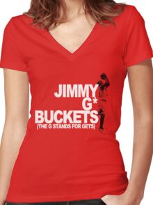 Jimmy G* Buckets Women's Fitted V-Neck T-Shirt