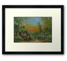 The Shire (Frodo and Sam Making Plans ) Framed Print