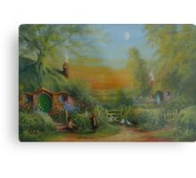 The Shire (Frodo and Sam Making Plans ) Metal Print