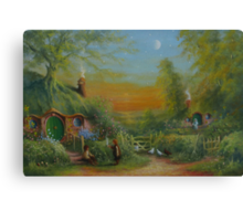 The Shire (Frodo and Sam Making Plans ) Canvas Print