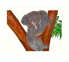 Fractalius Koala Art Print