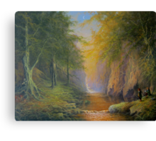 Tree beard Merry and Pippin  In Fangorn Canvas Print