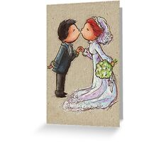 Wedding Kiss Greeting Card
