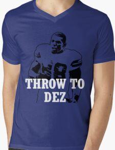 Throw To DEZ Mens V-Neck T-Shirt