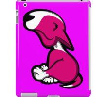 Innocent English Bull Terrier Puppy Pink  iPad Case/Skin