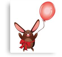 Chocolate Bunny with Balloon 2 Canvas Print